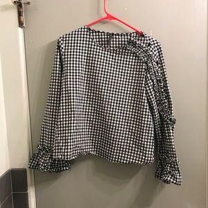 Zara gingham top in size M